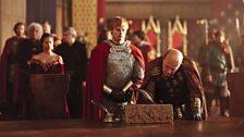 Queen Guinevere, King Arthur Pendragon and Sarrum