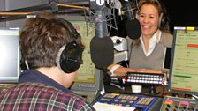 Grimmy & Sarah Beeny On Air