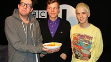 Anders and Anders from Alphabeat come in and play some new games with Grimmy.