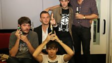 Mark Ronson and Klaxons hang out in the live lounge