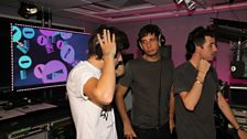 Example, Harry and Grimmy warm up for karaoke