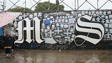 The memorial wall in Ciudad Barrios prison
