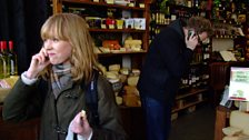 Lucy Rose eats cheese live on Fearne's show