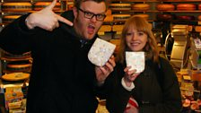 Lucy Rose in a cheese shop