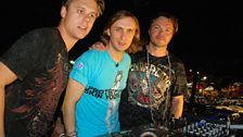 Pete Tong with David Guetta & Armin Van Buuren on top of the truck at the Salvador Carnival in Brazil