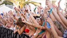 Fans at Radio 1's Free Party