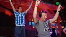 Vernon & Pete at Radio 1's Free Party