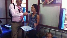 Jeremy talks to a doctor in Rangoon.