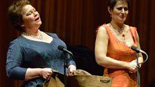 Paoletta Marrocu and Ingrid Tobiasson perform together