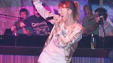 MNDR performing 'Bang Bang Bang' live