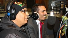 Chirag Pehchan in the studio with Bobby and Anushka