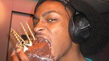 JME with his birthday cake