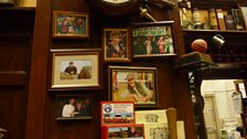 Wall of fame in The Woolpack