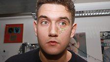 Err not sure he likes his xmas glitter