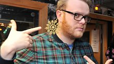 Radio 1's Huw Stephens and his xmas earring