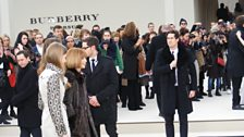 Vogue editor Anna Wintour arrives at Burberry