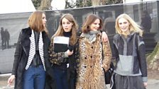 The gorgeous models nipping off at the end of the Burberry show