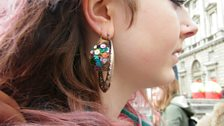 Earring made of a real snail shell from this fashionista's garden