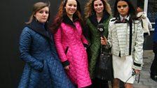 Three girls in the same coat!!