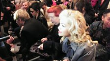 Rita Ora was at No 1 in the charts and on the front row