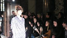 The front row inspects the new Vivienne Westwood collection