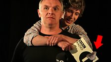 Gary amuses Matt Edmondson during some 'downtime' in a Piggyback Chat with Greg Davies.
