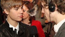 Bieber looks lovingly into the eyes of our moth.