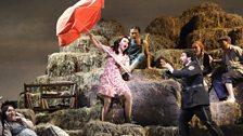 L'ELISIR D'AMORE: ALEKSANDRA KURZAK AS ADINA, FABIO CAPITANUCCI AS BELCORE