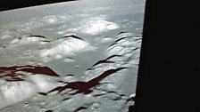 Taurus-Littrow – Apollo 17's exploration area as seen from the Challenger Module