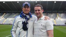 Vernon gets a tour around St James' Park with Kevin Nolan
