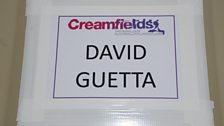 David Guetta's dressing room