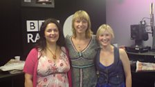 Ruth Jones and Joanna Page from Gavin and Stacey popped into see Sara