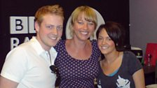 Sara with Charlie Clements and Lacey Turner