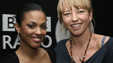 Sara with Freema Agyeman from Doctor Who