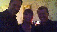 Sara also met England manager Steve McLaren and footballer David Seaman