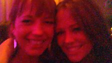 Sara with Kimberley from Girls Aloud