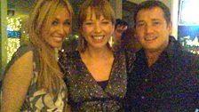 Jenny Frost, Sara Cox and Sid Owen
