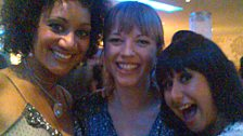Sara also hung out with various soap stars at the Take That party