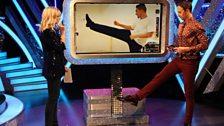 Ian gives the Louis leg lift a go