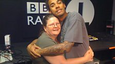 Dev's Mum came into the studio to help him present the show