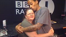 Dev loves his mum!