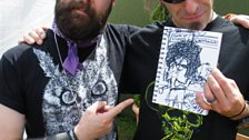 Randy Blyth (Lamb Of God) with his drawing