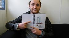 Aled Phillips (Kids In Glass Houses) with his Download doodle