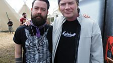 Dan with Dave Mustaine (Megadeath)