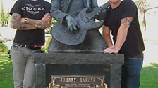 Mike and Matt Skiba by Johnny Ramone's Grave