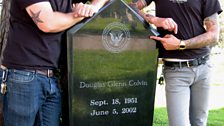 Mike and Matt Skiba by Dee Dee Ramone's Grave