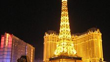 Paris by night in Las Vegas