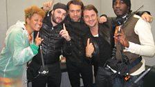 Swedish House Mafia backstage.