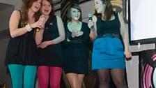 Vickey, Sophie, Emily and Ruth do 'Lady Marmalade'