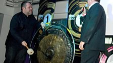 But Chris soon made use of the gong